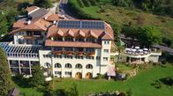 Panoramic view of Hotel Tenz in Montan, South Tyrol
