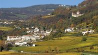 View of the South Tyrolean wine-growing village of Montan