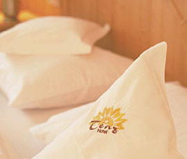 Hotel linens show off our well-cared for ambience