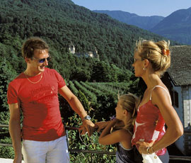 Family Holiday in Hotel Tenz, surrounded by vineyards