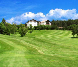 Magnificent greens of the Petersberg Golf Club in South Tyrol